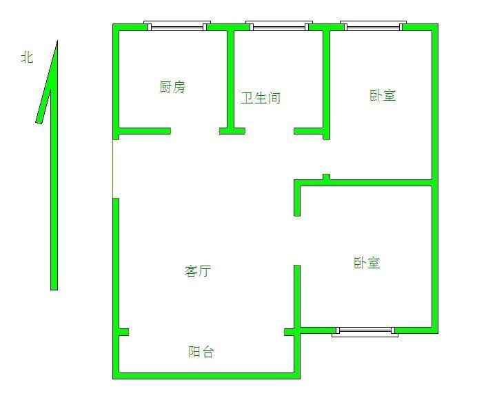 金茂豪庭 2室2厅 双证齐全 简装 73万