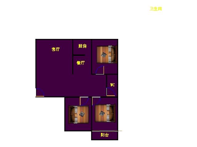 尚城国际 3室2厅  精装 136万