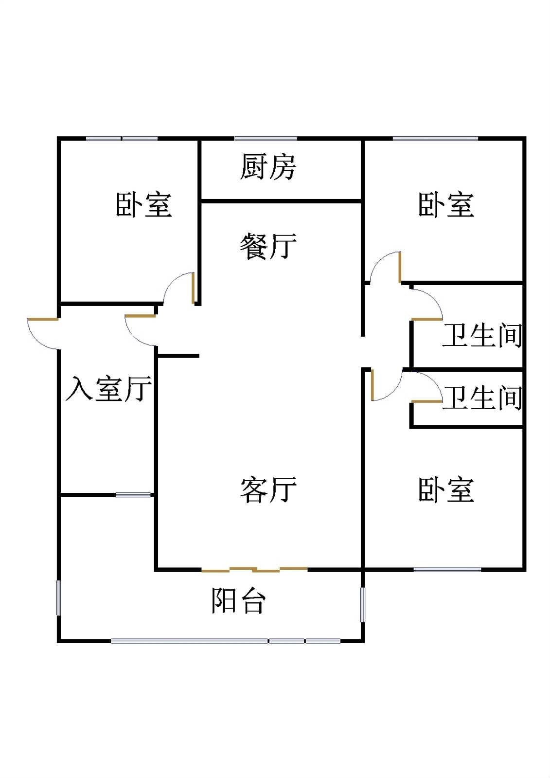玫瑰公馆 3室2厅 7楼