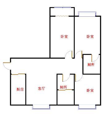 仁和家园 3室2厅  简装 135万