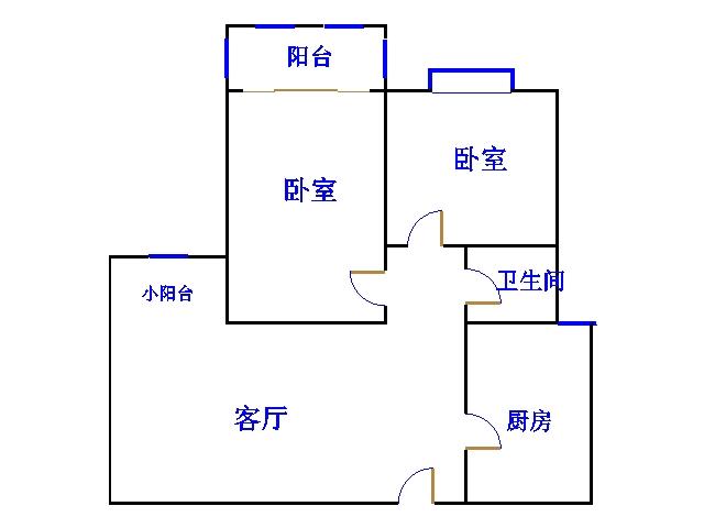 盛和景园 2室1厅 1楼