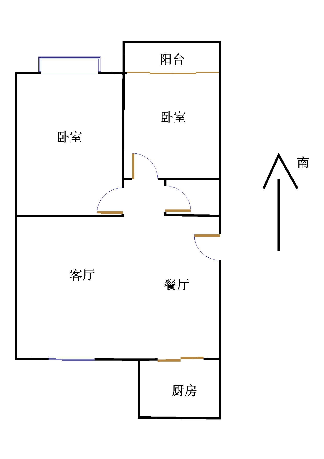 嘉诚尚东 2室2厅 1楼