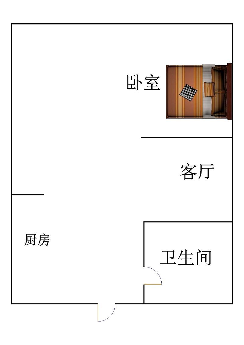 康博公馆 1室1厅 10楼