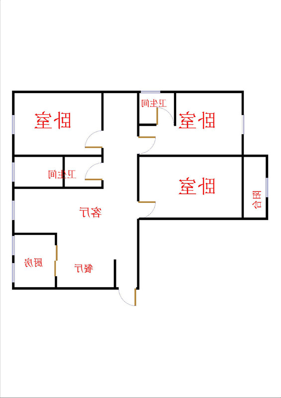 盛和景园 3室2厅 11楼