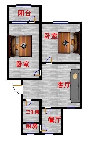 林苑小区 2室1厅  简装 70万