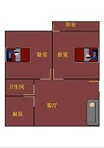 德百天衢小区 2室2厅 4楼