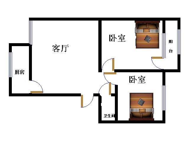 十三局宿舍东区 2室1厅 双证齐全过五年 精装 73万