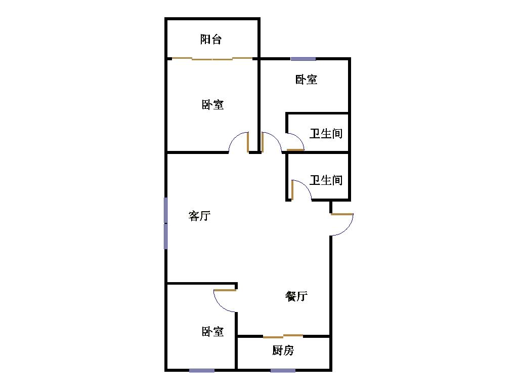 幸福家园 3室2厅 双证齐全过五年 简装 117万