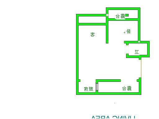 盛和景园 1室2厅 6楼