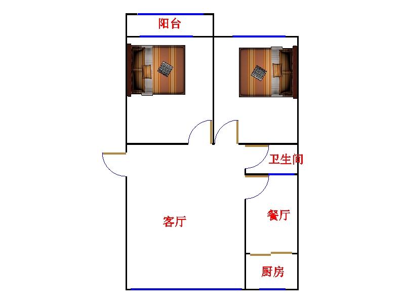十三局宿舍东区 2室2厅 双证齐全过五年 简装 60万