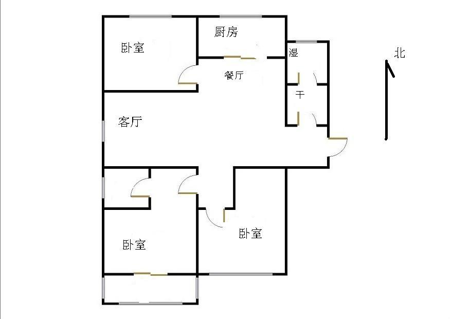 东方夏威夷 3室2厅 12楼