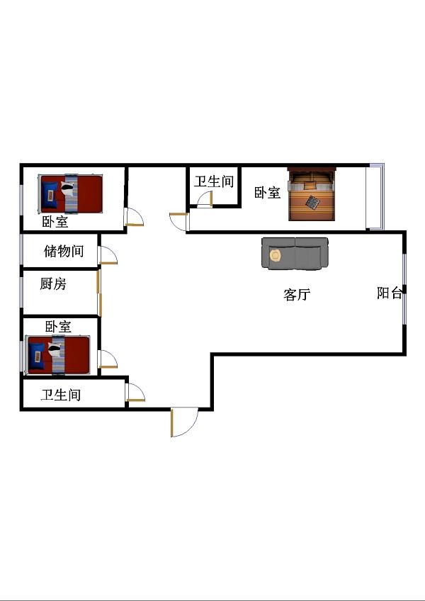 鲁班御景国际 3室2厅 双证齐全 精装 138万