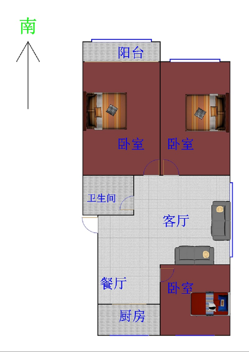 嘉御园 3室2厅  精装 110万