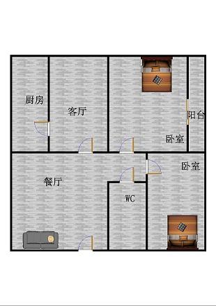贵都综合体 2室2厅 2楼