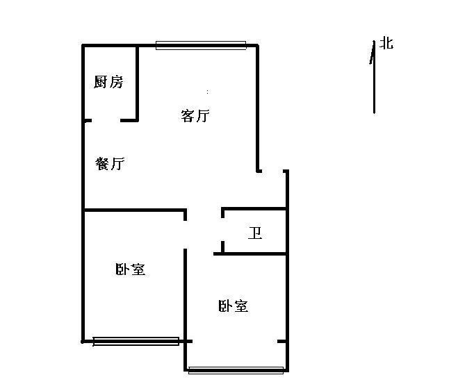 金光集团宿舍 2室2厅 过五年 精装 100万