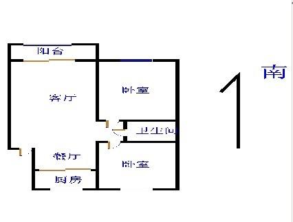 嘉诚尚东 2室2厅 双证齐全 简装 125万