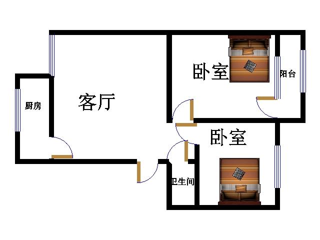 十三局宿舍东区 2室1厅  简装 80万