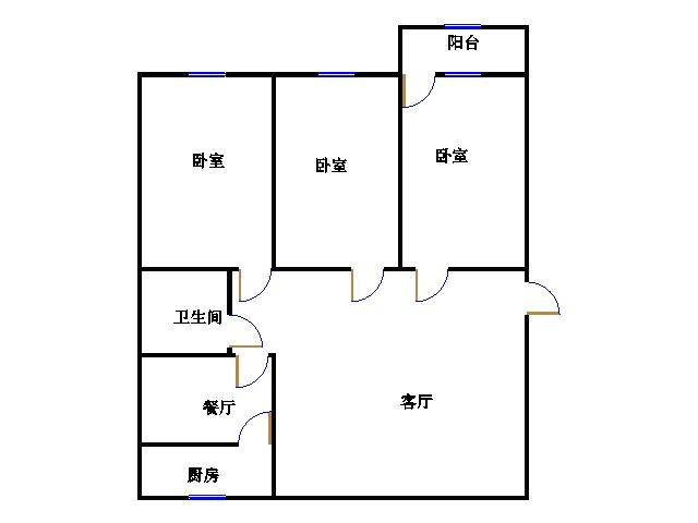 罗庄新区 3室2厅  精装 65万