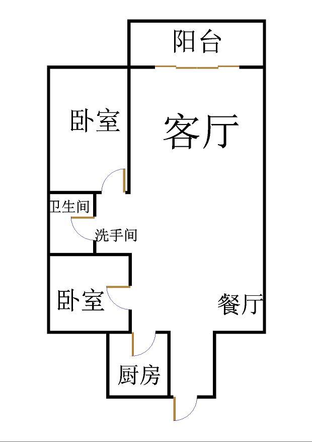 沙王社区 2室1厅 17楼