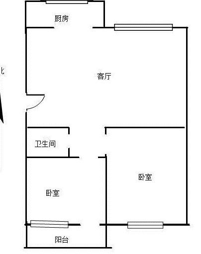 花好月圆 2室2厅 5楼
