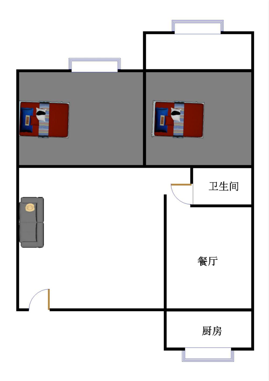 邹李小区 2室2厅  精装 65万