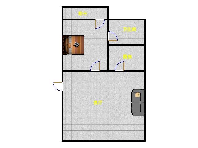 德百天衢小区 1室1厅 1楼