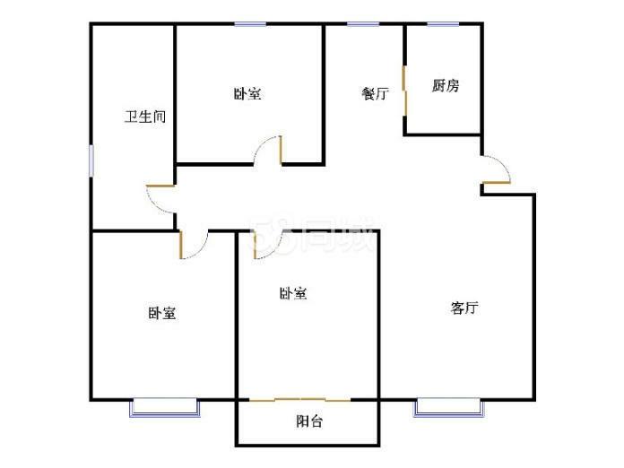 外海.江南水郡 3室2厅  简装 122万