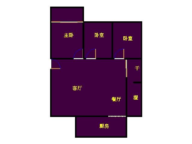 区建委宿舍 3室2厅 双证齐全过五年 精装 105万