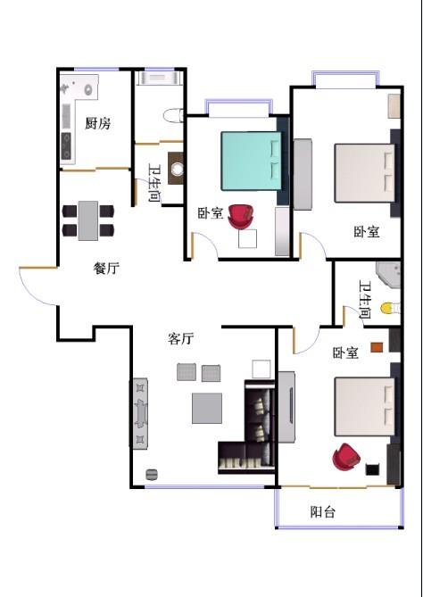 翠湖庄园 3室2厅 14楼