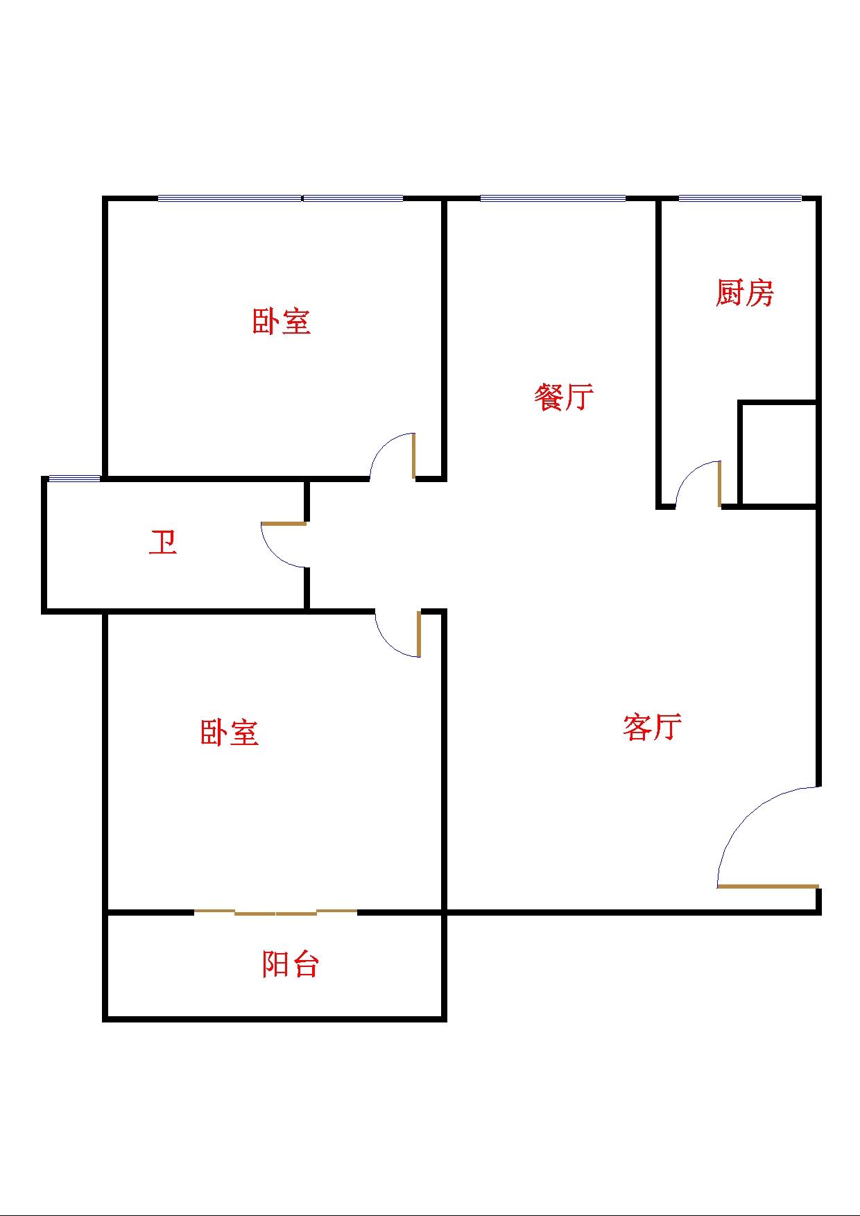 星河湾 2室2厅 23楼