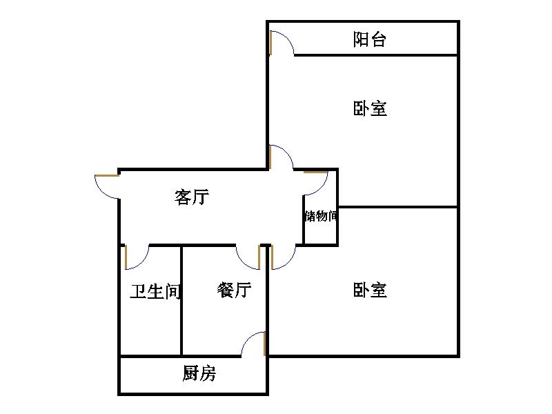 无线电三厂宿舍 2室1厅 2楼